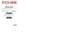 Pizza Nova gift card balance check