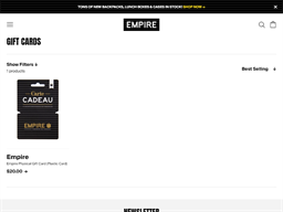 Think Empire gift card purchase