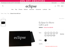 Eclipse Stores gift card purchase