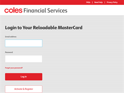 Coles Reloadable Mastercard gift card balance check