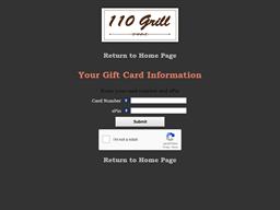 110 Grill gift card balance check
