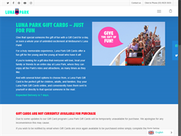 Luna Park Melbourne gift card purchase