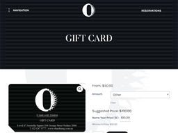 O Bar and Dining gift card purchase