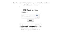 Zinburger Wine & Burger Bar gift card balance check