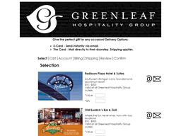 Greenleaf Hospitality Group gift card purchase