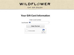Wildflower Bread gift card balance check