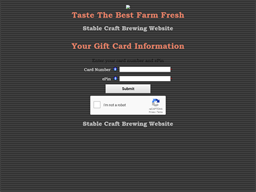 Stable Craft Brewery gift card balance check