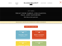 Black Walnut Cafe gift card purchase