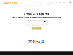 Kindred gift card balance check