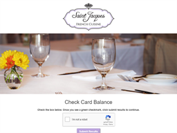 Saint Jacques French Cuisine gift card balance check