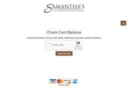 Samantha's Tap Room & Wood Grill gift card balance check