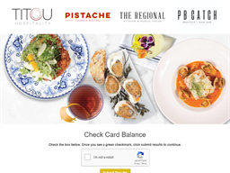 Pistache French Bistro gift card balance check